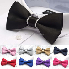 Cheap polyester satin ribbon bow tie for men's suits