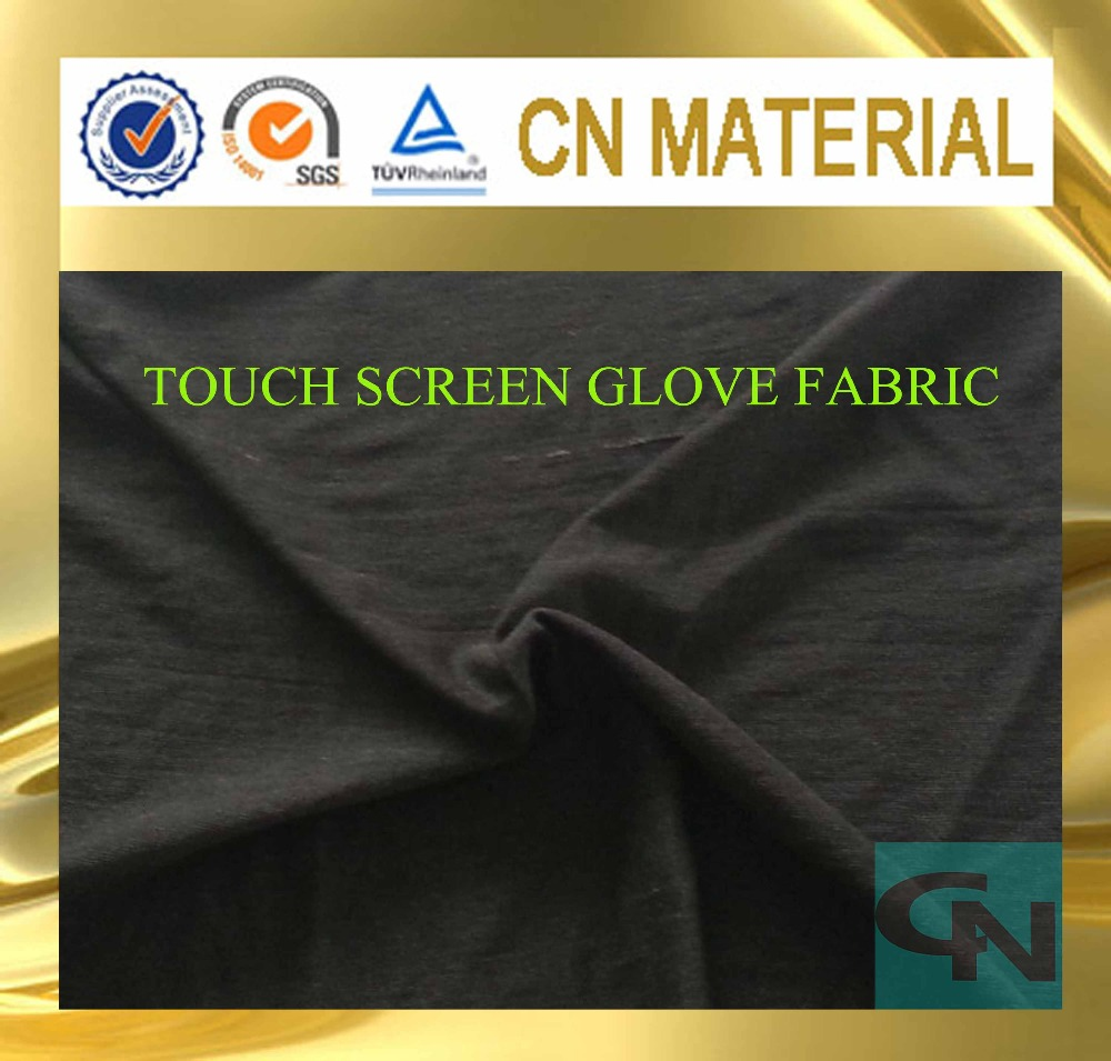 conductive touch screen gloves fabric