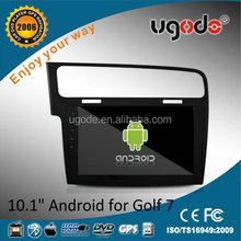 ugode tablets 10.1 android 4.4 car radio with gps player for vw golf 7