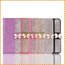 Studded Diamond Bling Leather Flip Wallet phone Case for iPhone 7 Plus