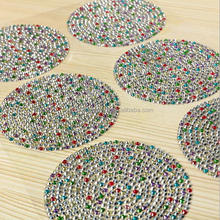 good quality dimond mix shape colorful rhinestone stone mirror sticker for mirror home mobiles decoration