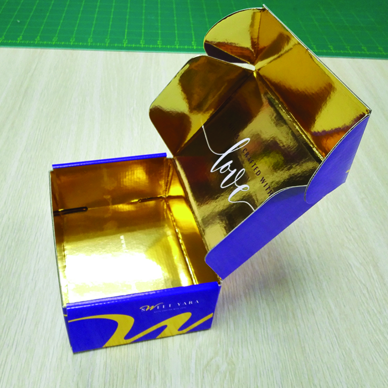 Custom Gold foil corrugated box