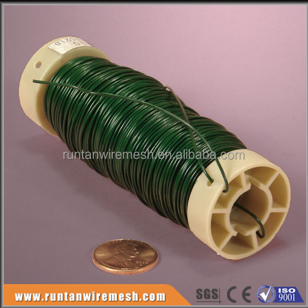 Green florist wire for for bundling, wrapping, wreaths, Christmas wreaths and craft work