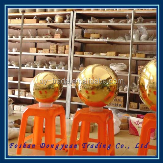 51mm hollow decorative mirror golden stainless steel color ball