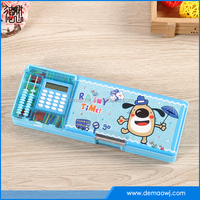 Wholesale eco-friendly school multi function colorful calculator pencil case