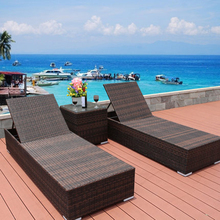 Luxury outdoor furniture garden sun lounge rattan sunbed