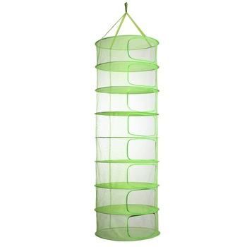 Hydroponics 2 or 3 FT 4 6 or 8 Tier Layer Collapsible Mesh Hydroponic Hanging Herb Dry Drying Net with Carrying Bag