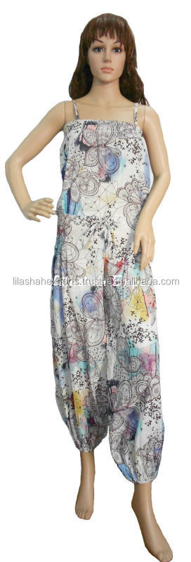 3079 Cotton Printed jumpsuitsTrouser Dresses jumpsuit Hindu Ropa beachwear cloth dress