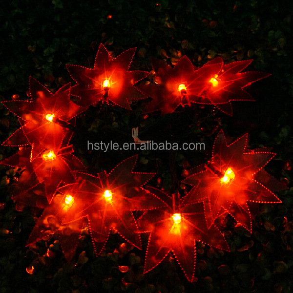 Solar Powered LED Maple Leaf String Fairy Light For Christmas Holiday Decoration HNL127S