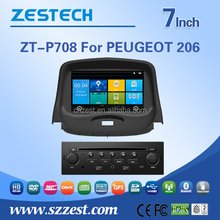 Win CE 6.0 OS 7 inch 2 din car dvd gps for Peugeot 206 car audio system car radio player with 3G Wifi support IPOD