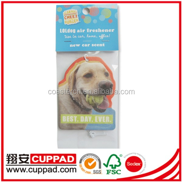 Recycle high quality car air freshener make hanging paper car air freshener new car scent