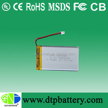 flat lipo battery for electric car 3.7v 3000mah