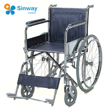 Steel Foldable Handicapped Manual wheelchair For Elderly People