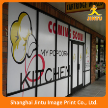 Promotional removable pvc advertising window sticker decal