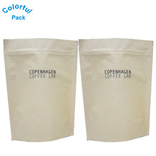 High quality custom printed coffee tea bags heat seal bags Kraft paper pouch for coffee with zipper