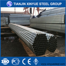 Galvanized structure Steel pipe tubes for construction greenhouse industry