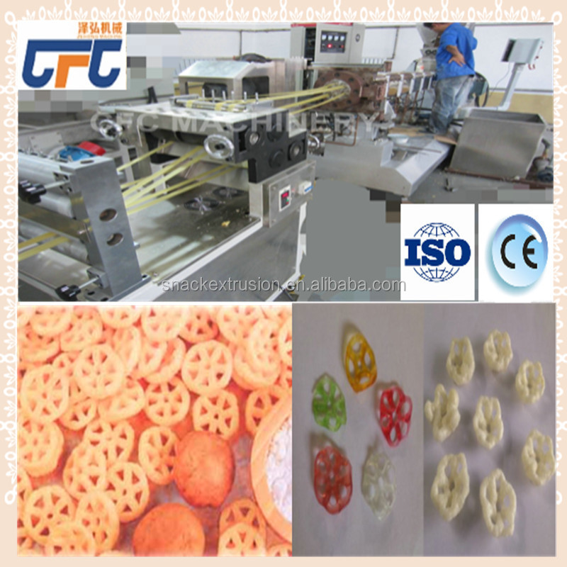 Crispy Extruded Fry Wheat Corn Flour Pellet 3D Snacks equipment