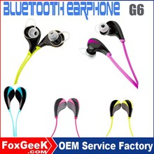 mini bluetooth earphone for all phones in- ear bluetooth handset G6 bluetooth earphone