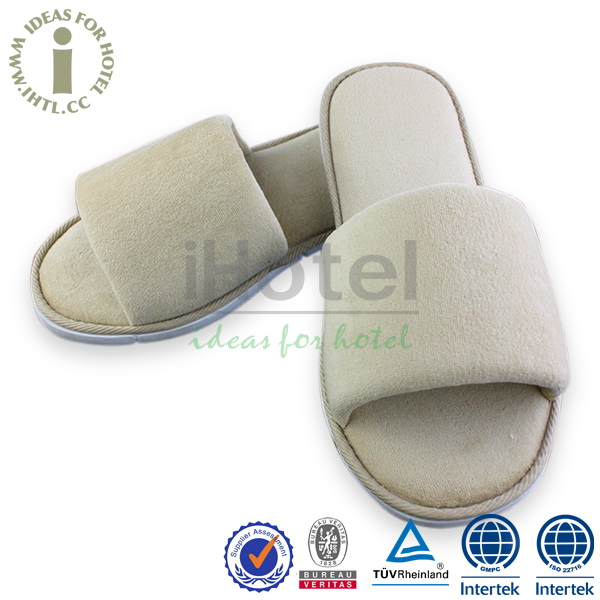 Cheap Indoor Disposable Guest Slippers Hot Sell Open Toe Sandals