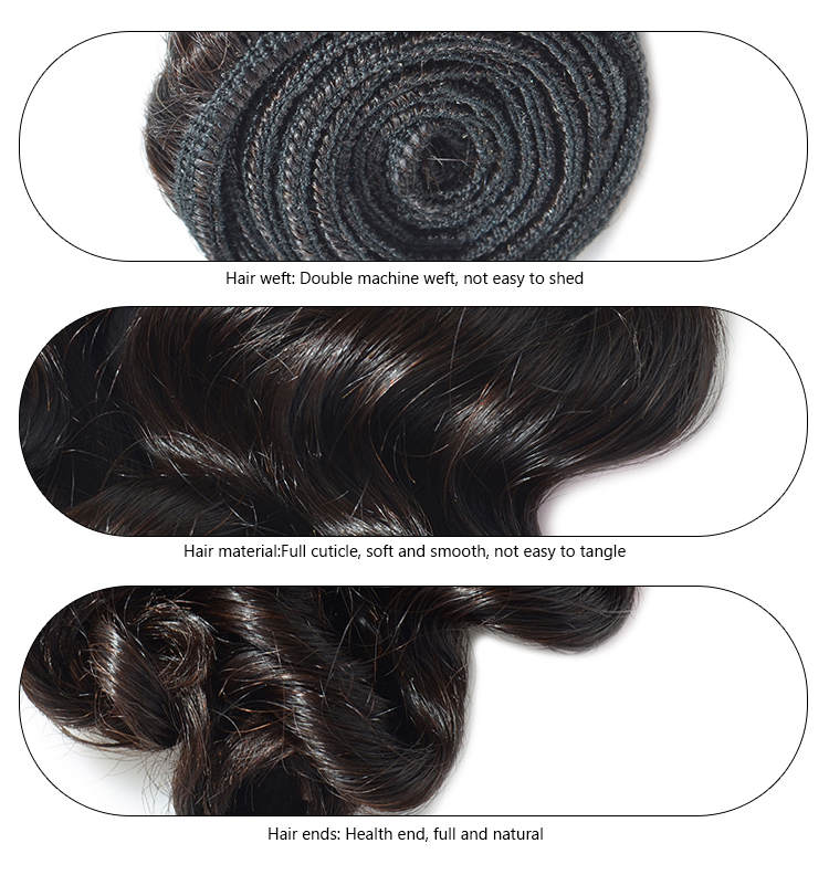 Loose wave hair extension tangle free no shed original brazilian human hair