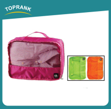 Hot Selling Portable Foldable Polyester Travel Mesh Drawstring Organizer Hanging Toiletry Bag With Low Price