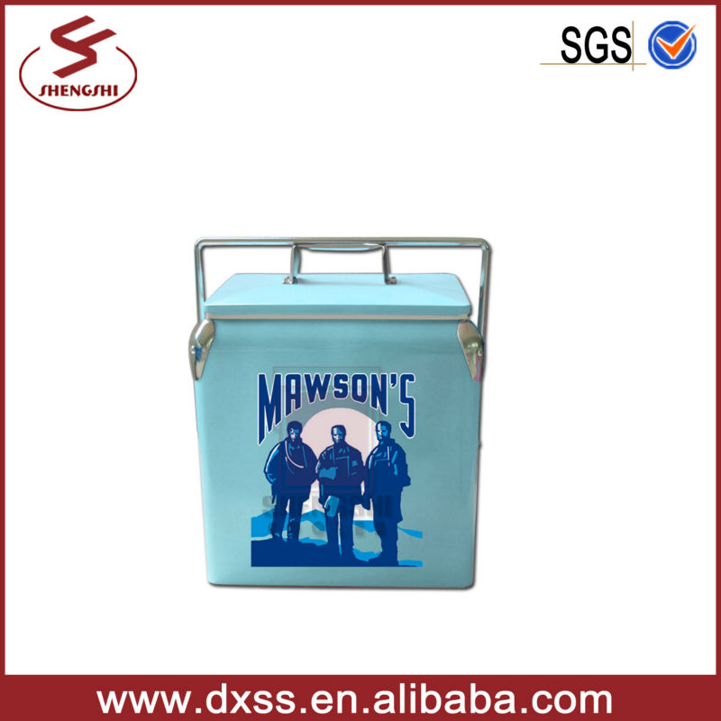13L Portable cooler box mini wine barrel