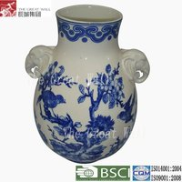 11 inch Chinese blue and white antique porcelain vases