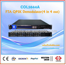 4 channel qpsk digital demodulator,receiver decoder COL5844A