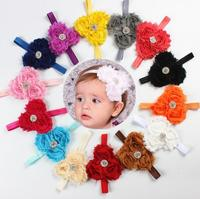 Fashion Infant Toddler Baby Headbands girl flower with rhinestone kids hair accessories