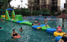 Colorful inflatable floating water park for sale inflatable games for adults inflatable products