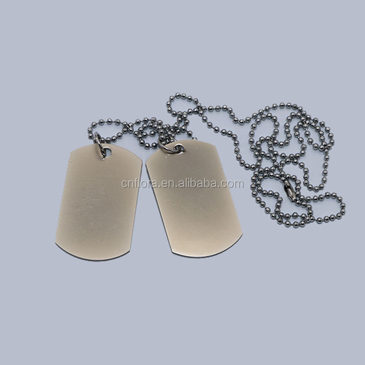 Professional Custom Logo American Flag Metal Military Label Sublimation American Dog Necklace