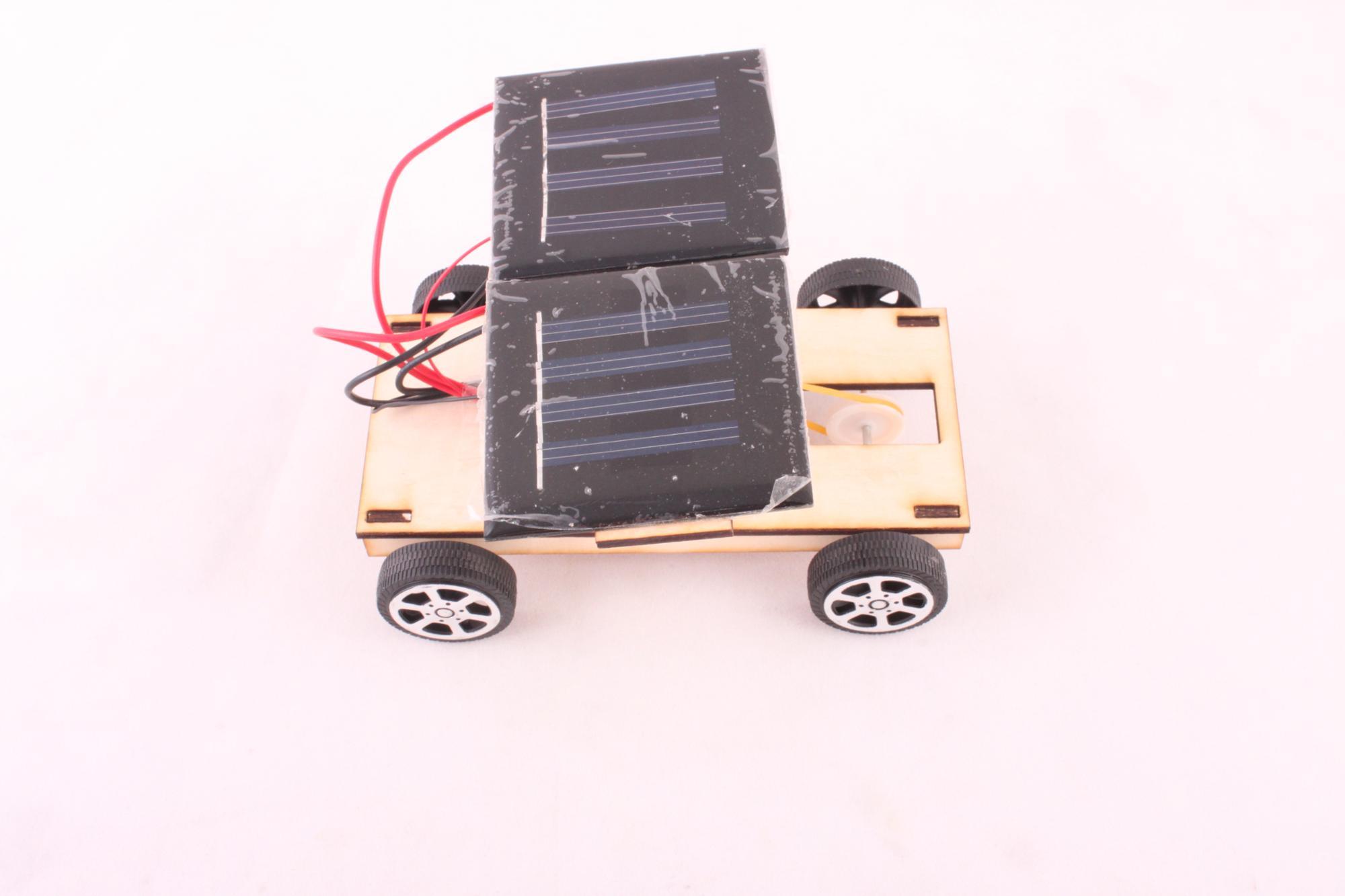 DIY деревянный солнечный автомобиль комплект собрать игрушки развивающие игрушки для детей