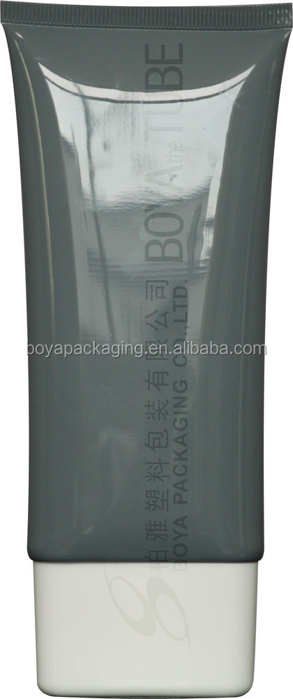Beauty handcream packing lotion containers cosmetic clear plastic cosmetic tube