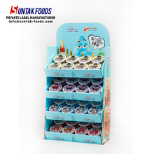 4 Layers Hanging Display Cardboard Shelf Display For Candy