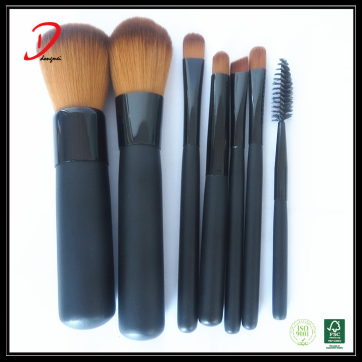 In stock!!!! makeup brush set 7pcs with pouch,travel small makeup brush set