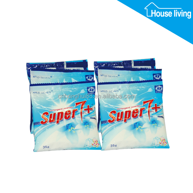 Branded bluesky clothes clean ecos-friendly 1kg detergent washing powder in sachet