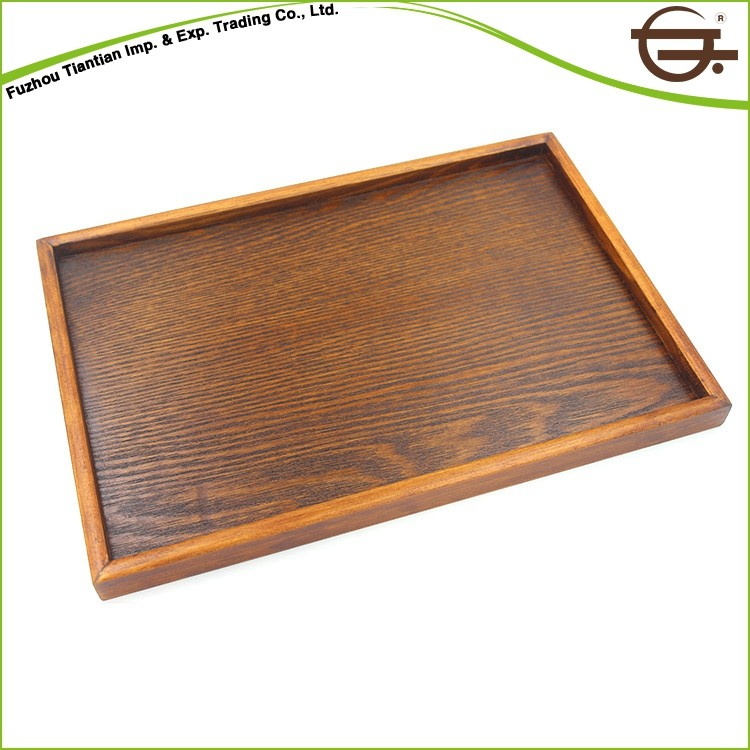 Antique rectangular decoration wood serving tray