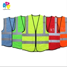 2017 Factory Made Cheap Green Fluorescent Reflective Safety Vest