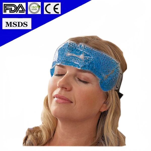 2016 Hot Selling Microwavable Reusable Beads Forehead Cooling Headband Gel Ice Pack