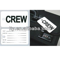 black font with white white backgrounds plastic tag(M-PT161)