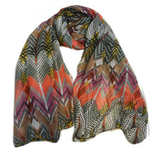 Factory Manufacture scarf , Women Print Stripe Scarf , Lady Shawl Scarf