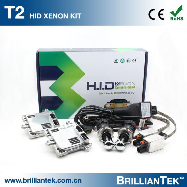 BT-AUTO Motorcycle And Car Head Lamp 4300K Xenon Conversion Kits High Low H4 HID Headlight