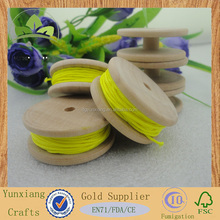 wooden fishing bobbin, small wooden reel, wooden rope spool
