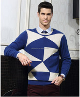 2016 Latest designs new style geometric model sweater for men