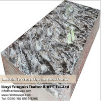 Marble texture decorates boards, UV coating Calcium Silicate Board 7026