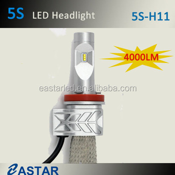 4000LM 5S motorcycle car led headlight H11/9006/h4 Hi/Lo beam