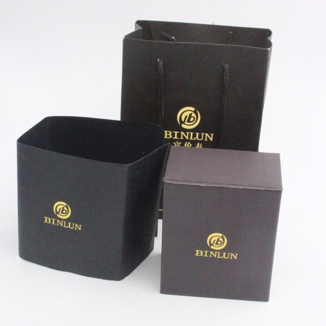 Custom Fashion New Design Hot Sale Electric Watch Box, Cheap Wholesale High Quality Black Cardboard Watch Packaging Box