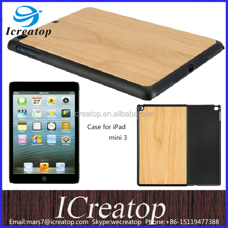 Case for ipad mini 3, wooden case for ipad 3 case, hot sale wood case for iPad