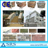 Natural split slate culture stone for wall panel