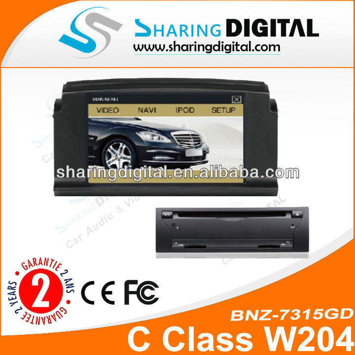 BNZ-7315GD 7 inch Touch Screen Car DVD GPS car audio system w204 gps navigation